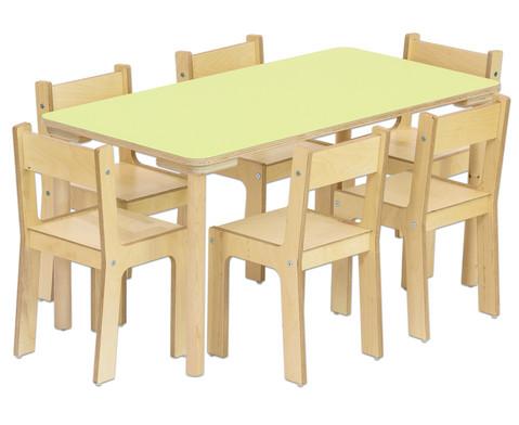 baccus 7 tlg m belset rechtecktisch 60cm breit tischh he 46 cm sitzh he 26 cm. Black Bedroom Furniture Sets. Home Design Ideas
