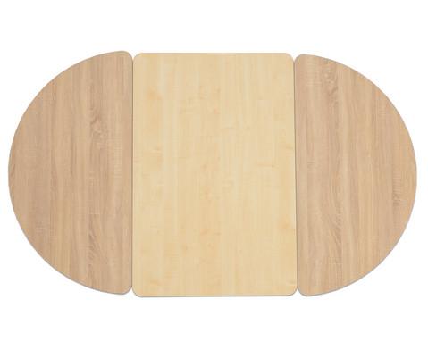 Tisch halbrund Hoehe 25 cm-3