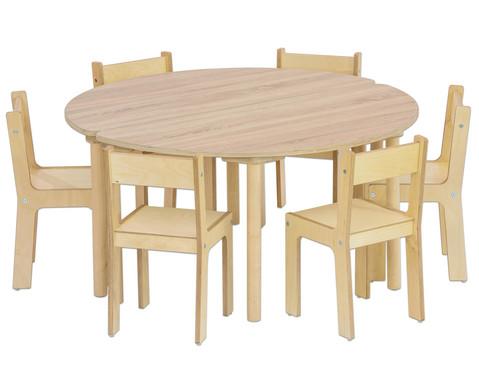 Tisch halbrund Hoehe 46 cm-2