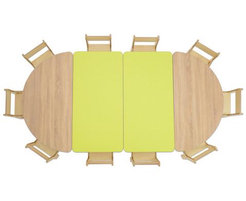 Tisch halbrund Tischhoehe 52 cm-4