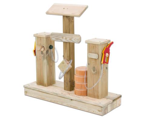 Spiel-Tankstelle aus Holz