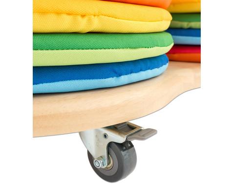 Mobiler Kissenwagen mit 32 runden Donut-Sitzkissen-4