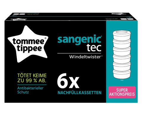 Nachfuellkassetten fuer Windeleimer Sangenic Tec-2