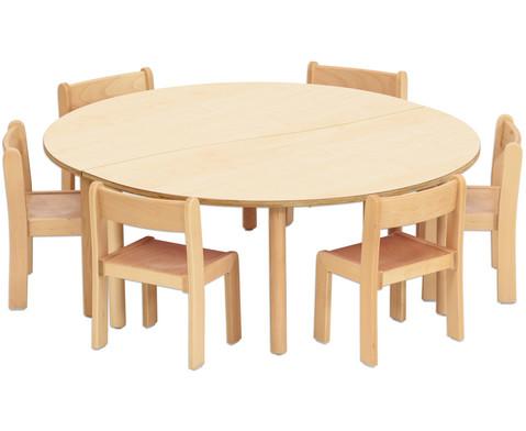 Tischset-Trentino 2x Halbrundtisch Hoehe 40cm Sitzhoehe 22 cm-3
