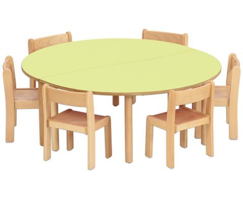 Tischset-Trentino 2x Halbrundtisch Hoehe 40cm Sitzhoehe 22 cm-2