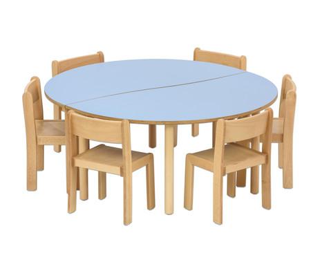 Tischset Trentino 2x Halbrungtisch Hoehe 46cm Sitzhoehe 26cm-5