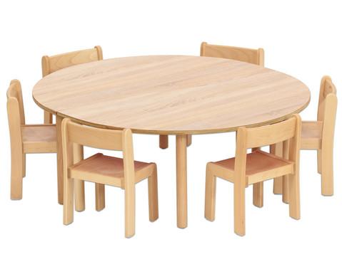 Tischset Trentino 2x Halbrundtisch Hoehe 52cm Sitzhoehe 30cm