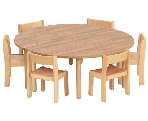 Tischset Trentino 2x Halbrundtisch Hoehe 52cm Sitzhoehe 30cm-2