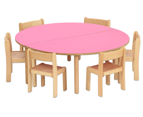 Tischset Trentino 2x Halbrundtisch Hoehe 52cm Sitzhoehe 30cm-3