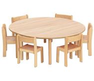 Tischset: Trentino, 2x Halbrundtisch Höhe: 58cm, Sitzhöhe: 34cm