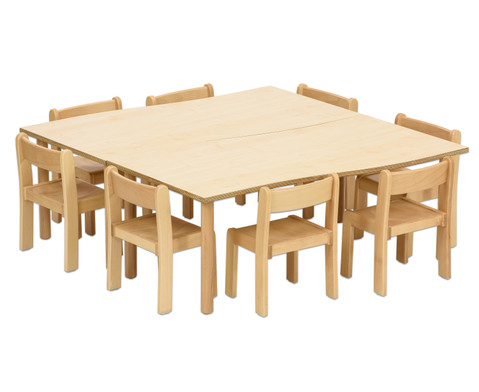 Tischset Trentino 2x Rechtecktisch Hoehe 52cm Sitzhoehe 30cm
