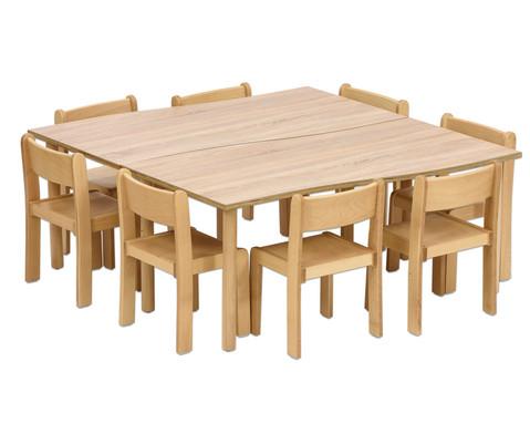 Tischset Trentino 2x Rechtecktisch Hoehe 52cm Sitzhoehe 30cm-7