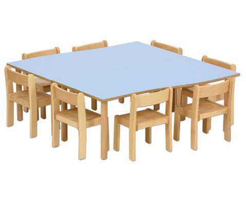 Tischset Trentino 2x Rechtecktisch Hoehe 52cm Sitzhoehe 30cm-5