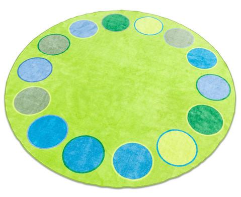 Riesen-Rundteppich Dots