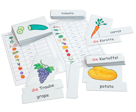 Flash Cards - Obst-Gemuese
