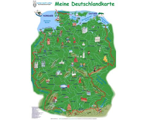 Poster Meine Deutschlandkarte-1