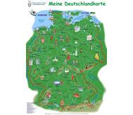 """Poster """"Meine Deutschlandkarte"""""""
