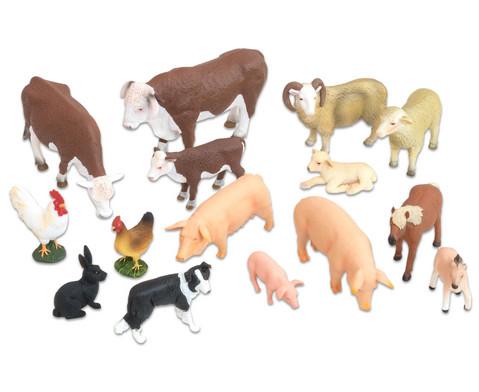 Bauernhof-Tiere 15-tlg Set