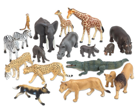 Afrikanische Tiere 18-tlg Set-1