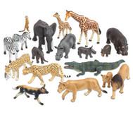 Afrikanische Tiere, 18-tlg. Set