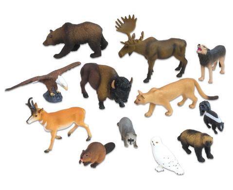 Nordamerikanische Tiere 12-tlg Set-1