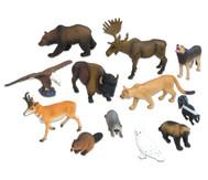 Nordamerikanische-Tiere Set, 12-tlg