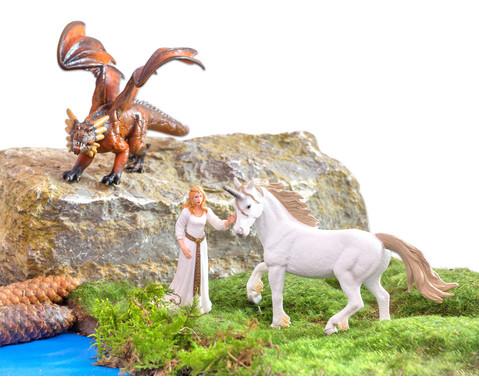 Fantasie Tiere 5-tlg Set-2