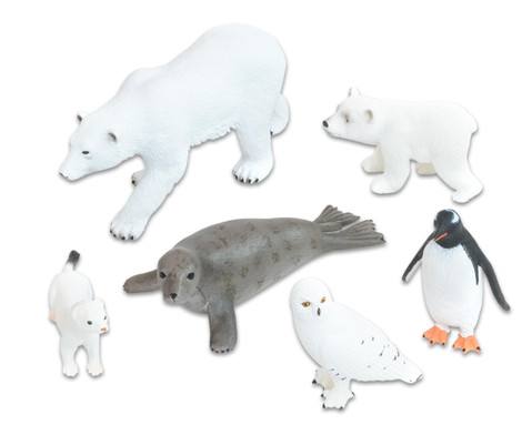 Arktische-Tiere Set 6-tlg