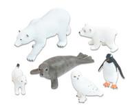 Arktische-Tiere Set, 6-tlg