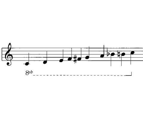 Einzelner Sopran-Klangbaustein mit Schlaegel-4