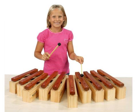 Satz mit 10 Alt-Klangbausteinen und 10 Schlaegeln-3