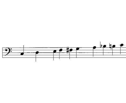 Einzelner Bass-Klangbaustein mit Schlaegel-2