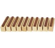 Satz mit 10 Bass-Klangbausteinen und 10 Schlägeln, Hartholz