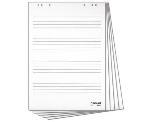 Betzold Musik Flipchart-Block mit 4 Notensystemen