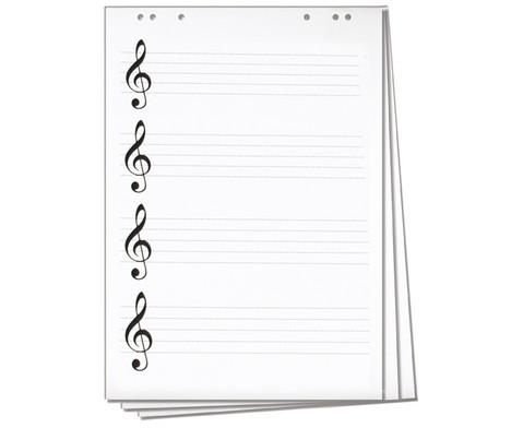 Flipchart-Block mit Notenlinien und Violinschluessel-1