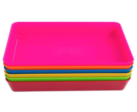 Betzold Materialschalen klein 5 Stueck in einer Farbe