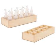 Holzbox für Kleberflaschen
