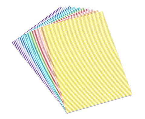 Streifen-Fotokarton 10 Bogen-1