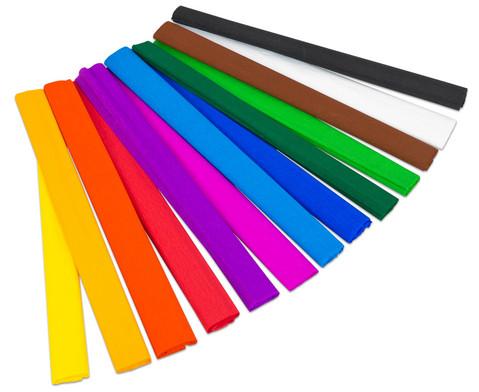 Krepp-Papier in verschiedenen Farben je 10 Rollen