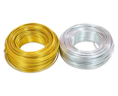 Aludraht 2mm 65m silber oder gold-1