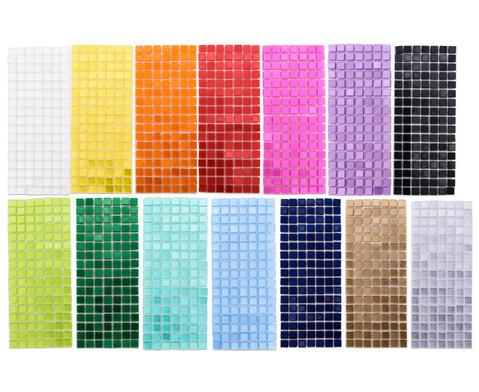 Selbstklebende Mosaikplaettchen 5 x 5 mm