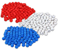 Holzperlen 100 Stück : rot, blau oder weiß