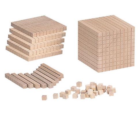 Zehnersystem -Teile aus Holz-1
