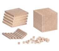 Zehnersystem -Teile aus Holz
