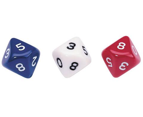 Zehnflaechige Wuerfel Dekaeder mit den Ziffern von 0-9