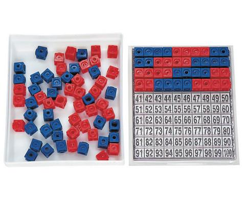 DICK-System Steckwuerfel-Multibox rot-blau 100 Stueck