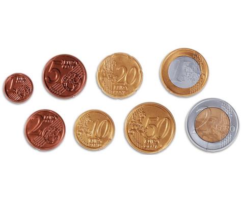 Euro Muenzen sortiert im Beutel