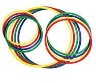 Gymnastik-Reifen, 4 Stück, bunt