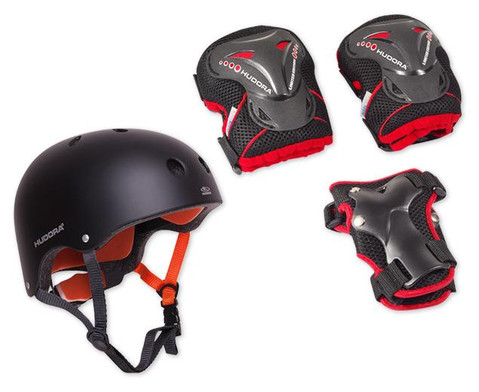 HUDORA Protection-Set Helm inkl Protektoren