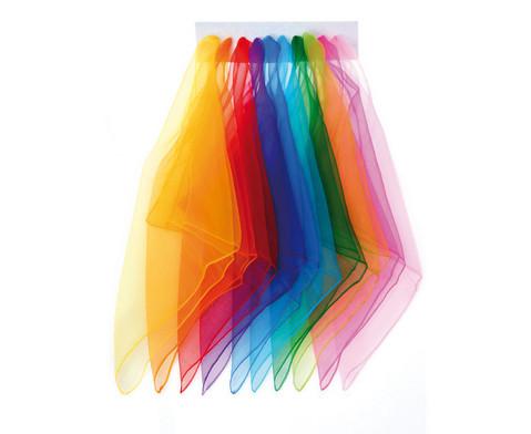 10 Chiffon-Tuecher in 10 Farben